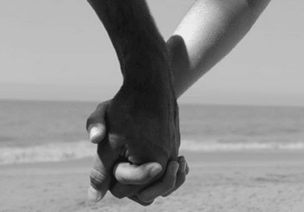 Holding Hands White and Black