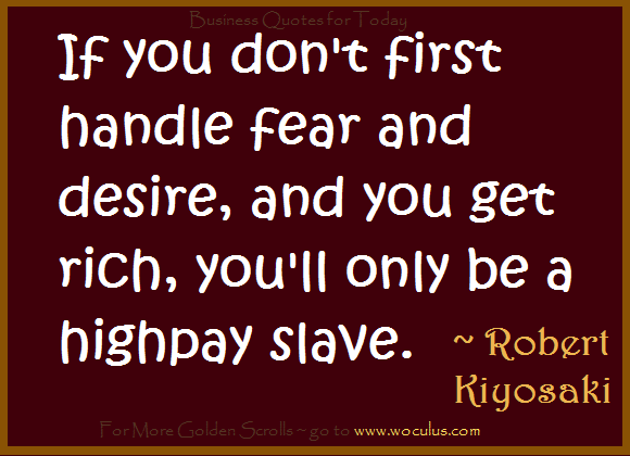 Don't Allow Fear Ever Again - To the Men Building Great Businesses