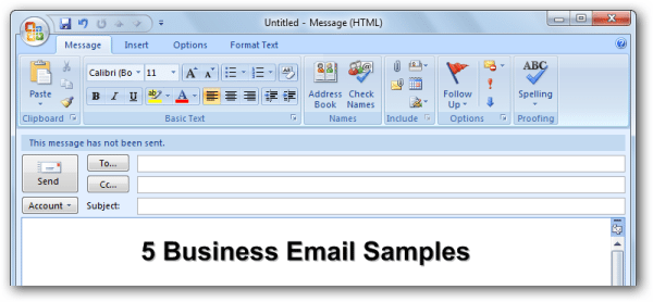 Five 5 Effective Business Email Samples You Can Emulate Woculus – Sample Business Email