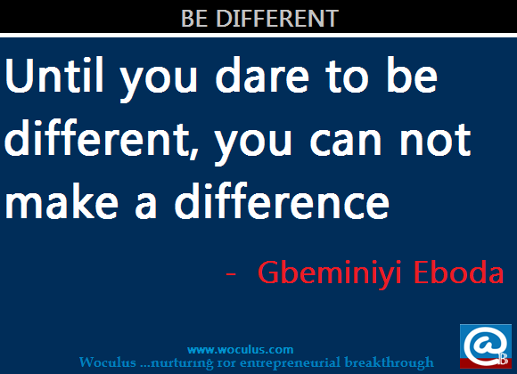 You Can Be Different