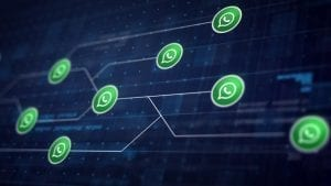 whatsapp icon line connection circuit board 1